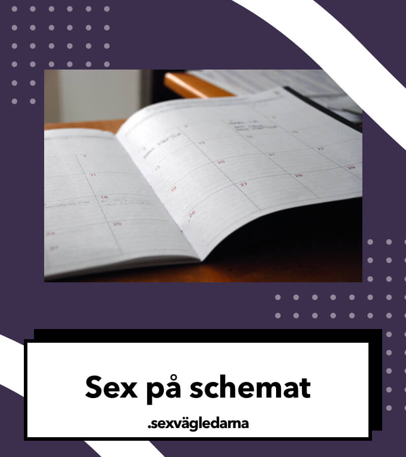 Sex på schemat öka sexlusten