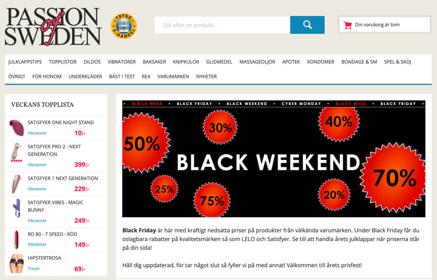 Passion of Sweden Black Friday 2020